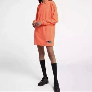 $110 Nike Lab Hyper Crimson Neon Shirt Tee Dress
